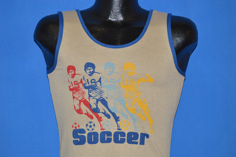 80s Soccer Rainbow Deadstock Tank Top t-shirt Youth Medium
