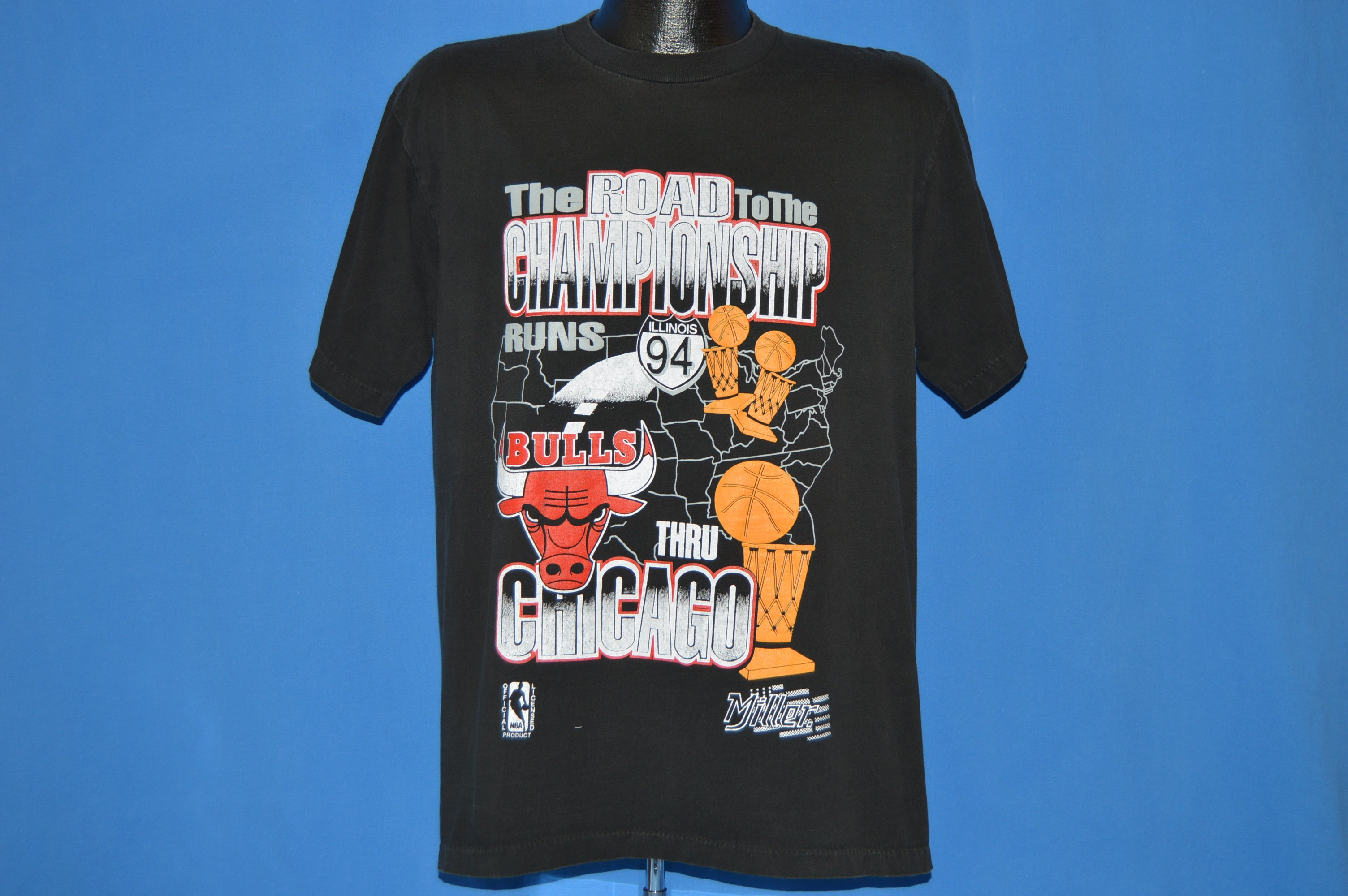 6ba291caa9fe 90s Chicago Bulls Road To Championship t-shirt Large - The Captains ...