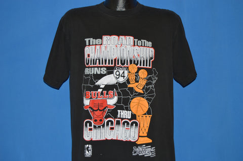 90s Chicago Bulls Road To Championship t-shirt Large