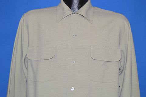40s Artvogue Of California Wool Challis shirt Large