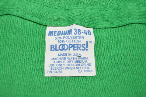 80s Green Thin Blank t-shirt Small