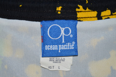 80s OP Ocean Pacific Rainbow Men's Swim Trunks Large