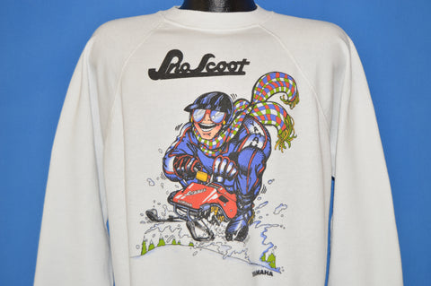 90s Sno Scoot Mobile Yahama Sweatshirt Large