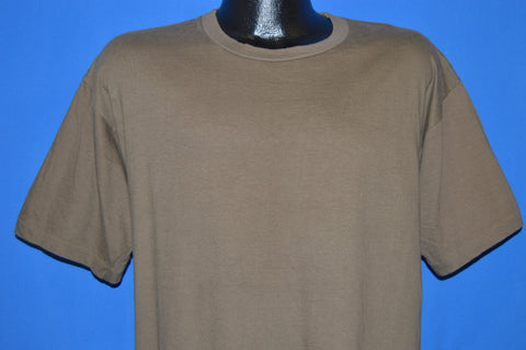 80s Blank Brown t-shirt Extra Large