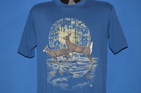 90s White-Tailed Deer Wilderness t-shirt Large