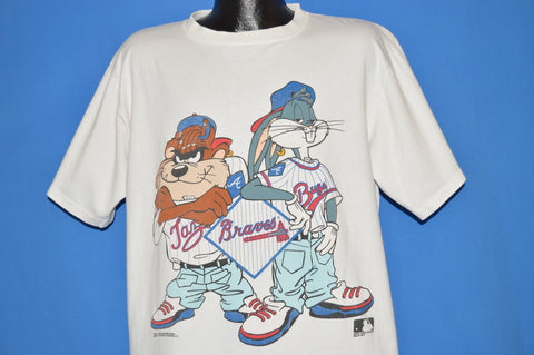 90s Atlanta Braves Looney Tunes Character t-shirt Extra Large