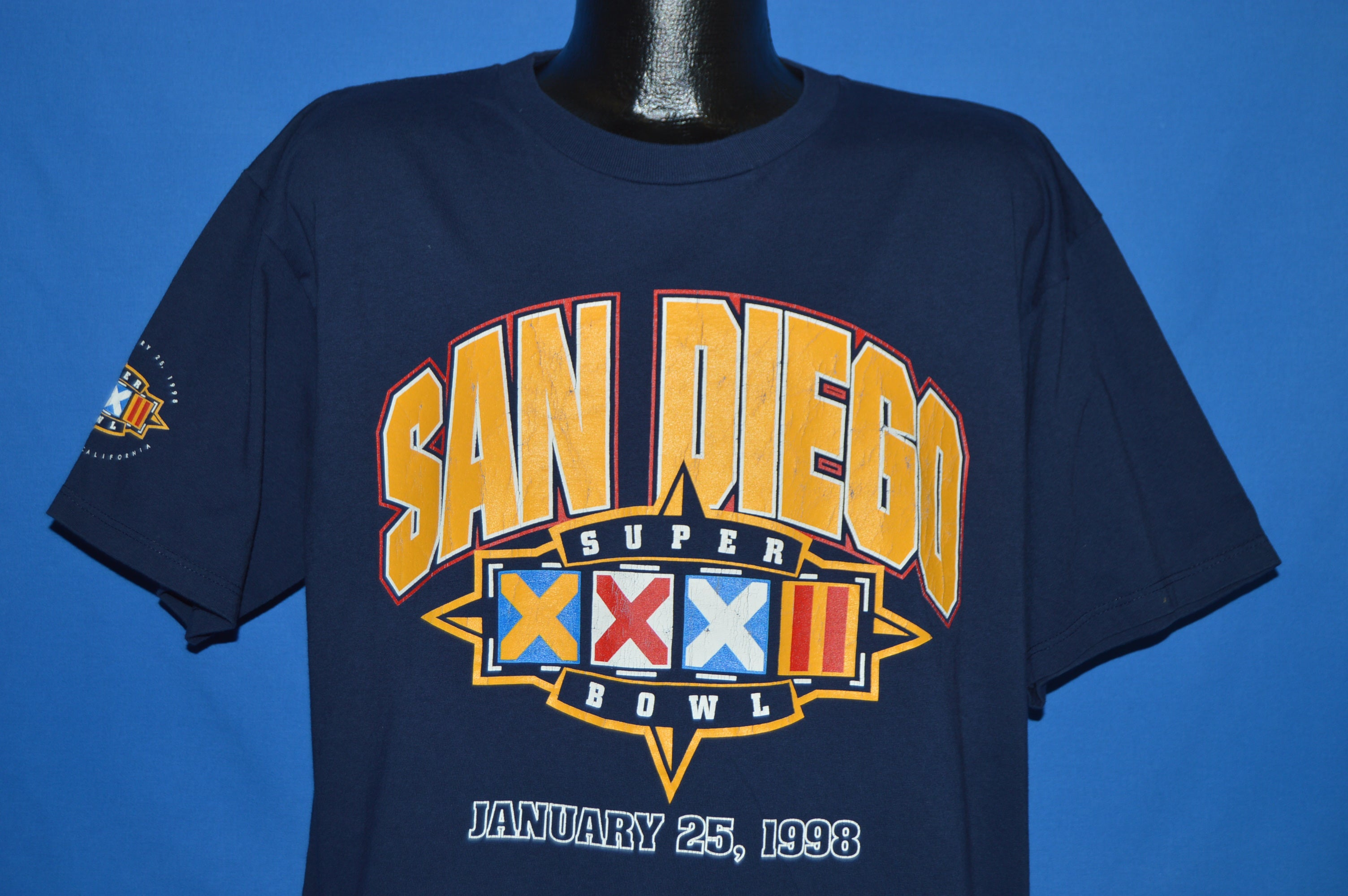 90s Super Bowl XXXII San Diego Broncos Packers t-shirt Large - The ... 479378892