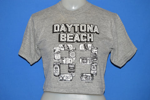 80s Daytona Beach 1983 Spring Break Crop Top t-shirt Small