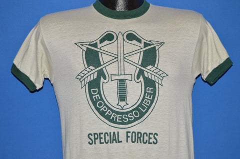 70s US Military Special Forces De Oppresso Liber t-shirt Small