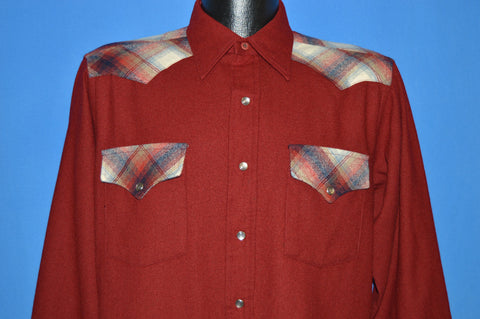 80s Pendleton Plaid Pearl Snap Cowboy Shirt Small