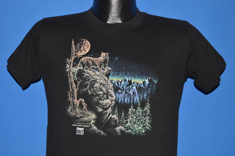 90s Mountain Lion Full Moon t-shirt Youth Large