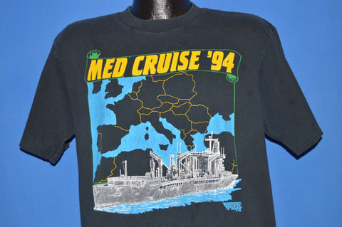 90s Mediterranean Cruise 1994 Military t-shirt Large