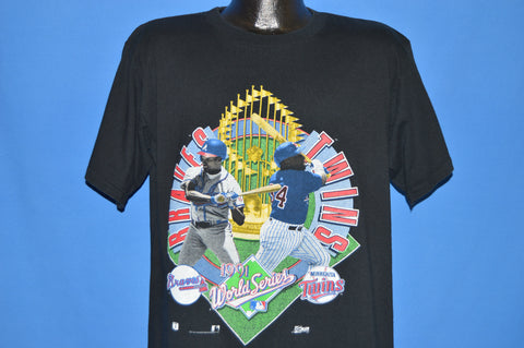 90s Minnesota Twins Atlanta Braves 91 World Series t-shirt Large