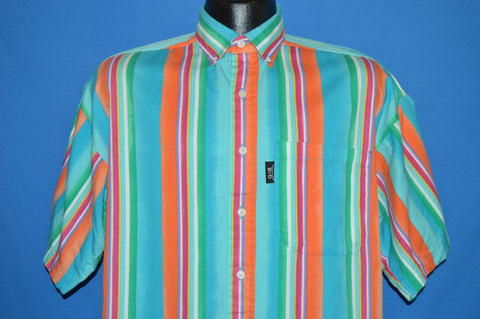 90s Brooks & Dunn Striped Western Shirt Medium
