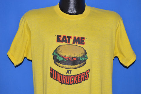 80s Eat Me At Fuddruckers Burger t-shirt Medium