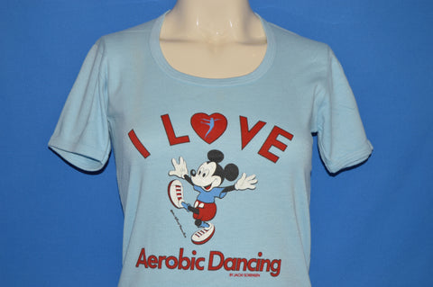 80s Mickey Mouse I Love Aerobic Dancing t-shirt Women's Medium