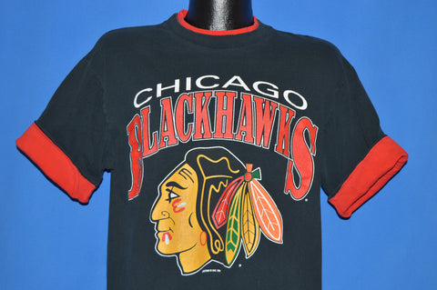90s Chicago Blackhawks Roll Up Sleeves t-shirt Large