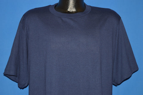 90s Blank Navy Blue t-shirt Extra Large