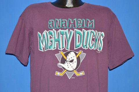 90s Anaheim Mighty Ducks Logo t-shirt Large