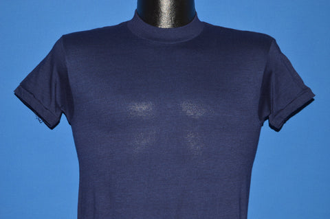 80s Navy Blue Blank Deadstock t-shirt Small