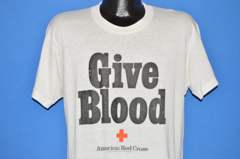 80s Give Blood Red Cross Distressed t-shirt Large