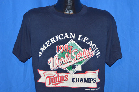 80s Minnesota Twins 1987 World Series Champs t-shirt Medium