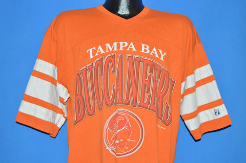 80s Tampa Bay Buccaneers Striped Jersey t-shirt Extra Large