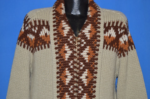 70s Pendleton Tribal Shawl Western Wear Cardigan Extra Large