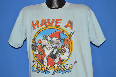 80s Christmas Have A Cool Yule Santa Rat t-shirt Extra Large