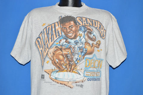 90s Dallas Cowboys Deion Sanders t-shirt Large