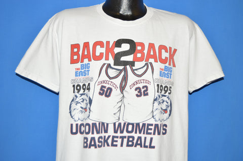 90s UCONN Back-to-Back Women's Championships t-shirt Large