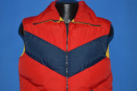 80s William Barry Reversible Puffy Ski Vest Medium