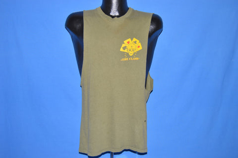 80s The Clash Combat Rock Four Aces Club Tank Top t-shirt Small