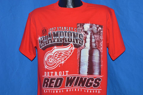 90s Detroit Red  Wings 1997 Stanley Cup t-shirt Medium
