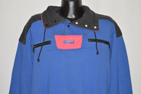 80s Columbia Sportswear Neon Sweatshirt Medium