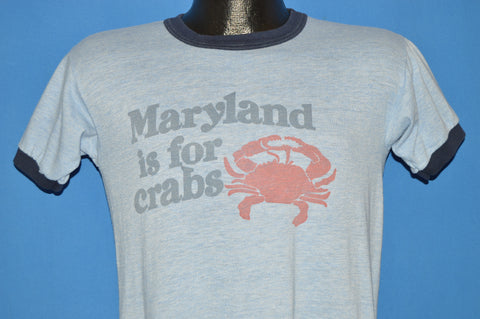 80s Maryland is for Crabs t-shirt Medium
