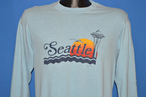 80s Seattle Space Needle Sunset Long Sleeve t-shirt Medium