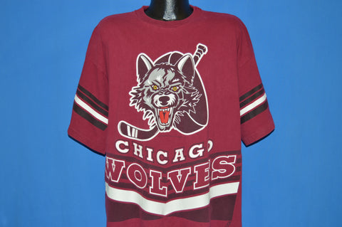 90s Chicago Wolves Pro Ice Hockey t-shirt XXL