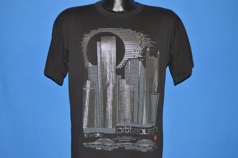 80s Pittsburgh The City Skyline Silver t-shirt Large