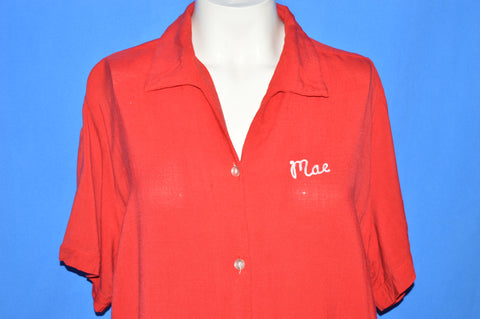 50s Grayson Controls Rayon Bowling Shirt Women's Extra Large