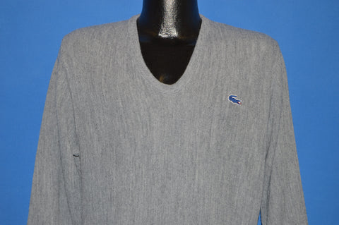 80s Gray Izod Lacoste Pullover Sweater Medium