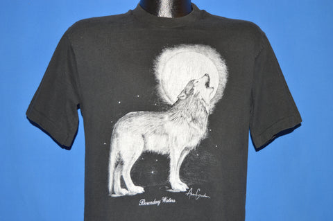 90s White Wolf Howling Full Moon t-shirt Medium