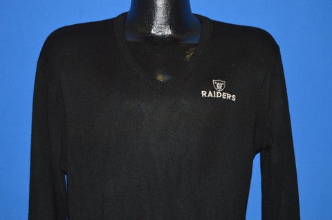 80s Oakland Raiders Black Sweater Medium