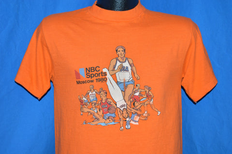 80s NBC Sports Moscow 1980 Olympics Orange t-shirt Small