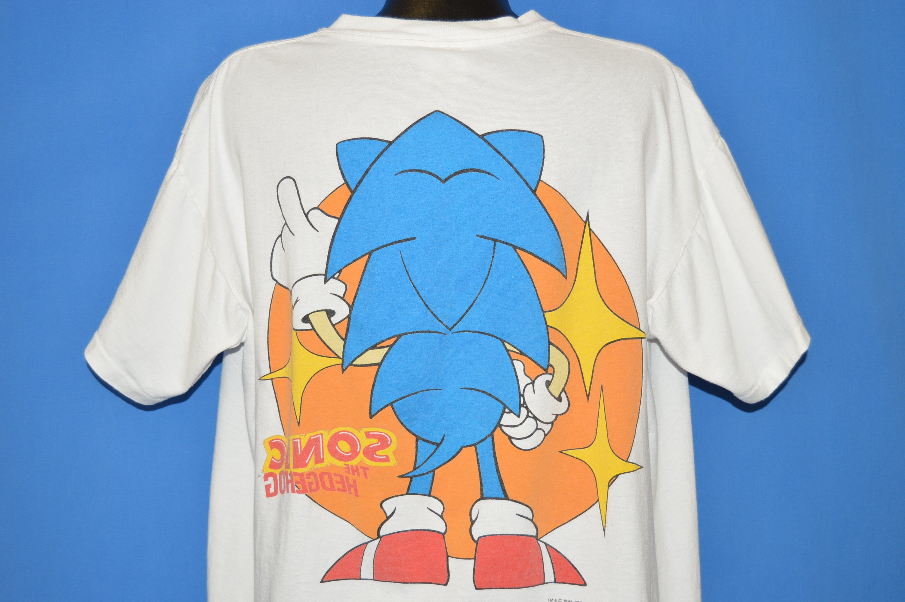 90s Sonic The Hedgehog 1991 T Shirt Extra Large The Captains Vintage