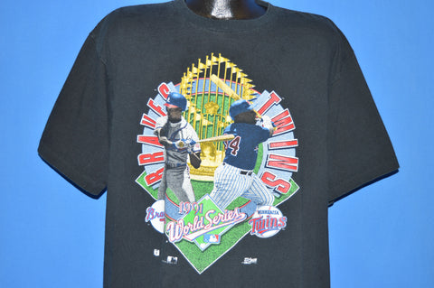 90s World Series 1991 Atlanta Braves Minnesota Twins t-shirt Extra Large