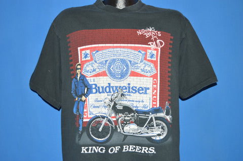 90s Budweiser King Of Beers Motorcycle t-shirt Extra Large