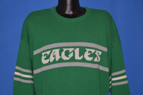 80s Philadelphia Eagles Kelly Green Pullover Sweater Extra Large