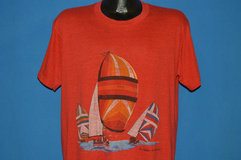 80s Sailboats In The Wind Captain t-shirt Extra Large