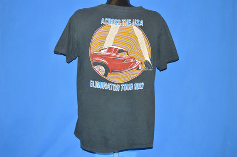80s ZZ Top Eliminator USA Tour 1983 t-shirt Extra Large